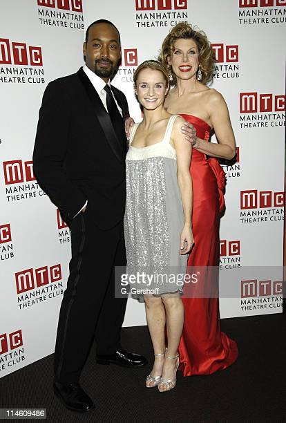 Jesse L Martin Kate Reinders and Christine Baranski