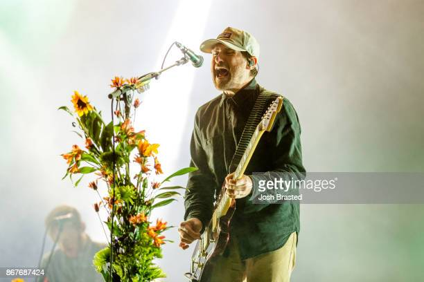 Jesse Lacey of Brand New performs during the 2017 Voodoo Music Arts Experience at City Park on October 28 2017 in New Orleans Louisiana