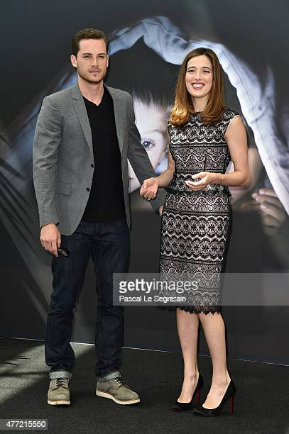 Jesse Lee Soffer and Marina Squercati attend a photocall for the 'Chicago PD' TV series on June 15 2015 in MonteCarlo Monaco