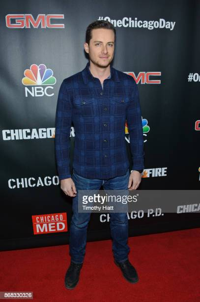 Jesse Lee Soffer attends the press junket for 'One Chicago' on October 30 2017 in Chicago Illinois