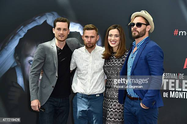 Jesse Lee Soffer Brian Geraghty Marina Squercati and Patrick Flueger and attend a photocall for the 'Chicago PD' TV series on June 15 2015 in...
