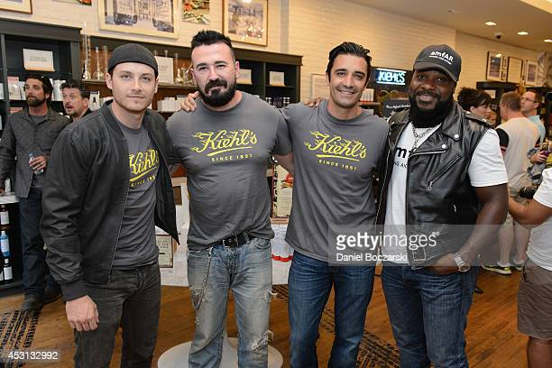 Jesse Lee Soffer President of Kiehl's USA Chris Salgardo Gilles Marini and MalcolmJamal Warner attend the Kiehl's LifeRide 2014 at Kiehl's Since 1851...