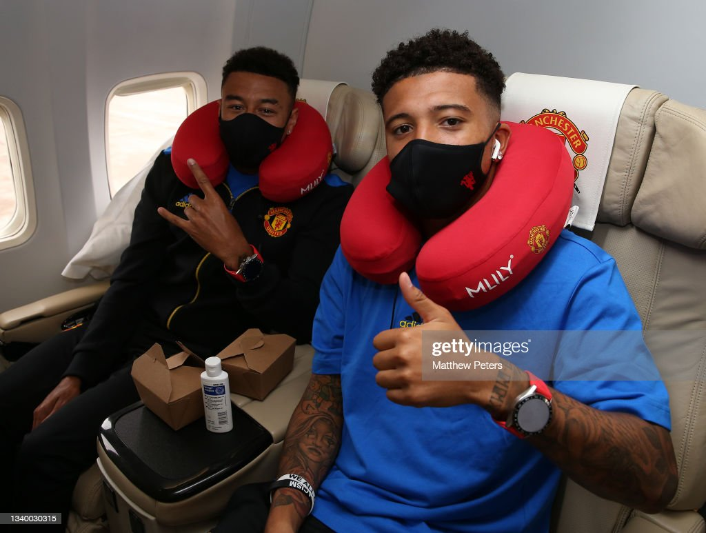 Manchester United Travel to Bern for the UEFA Champions League : News Photo