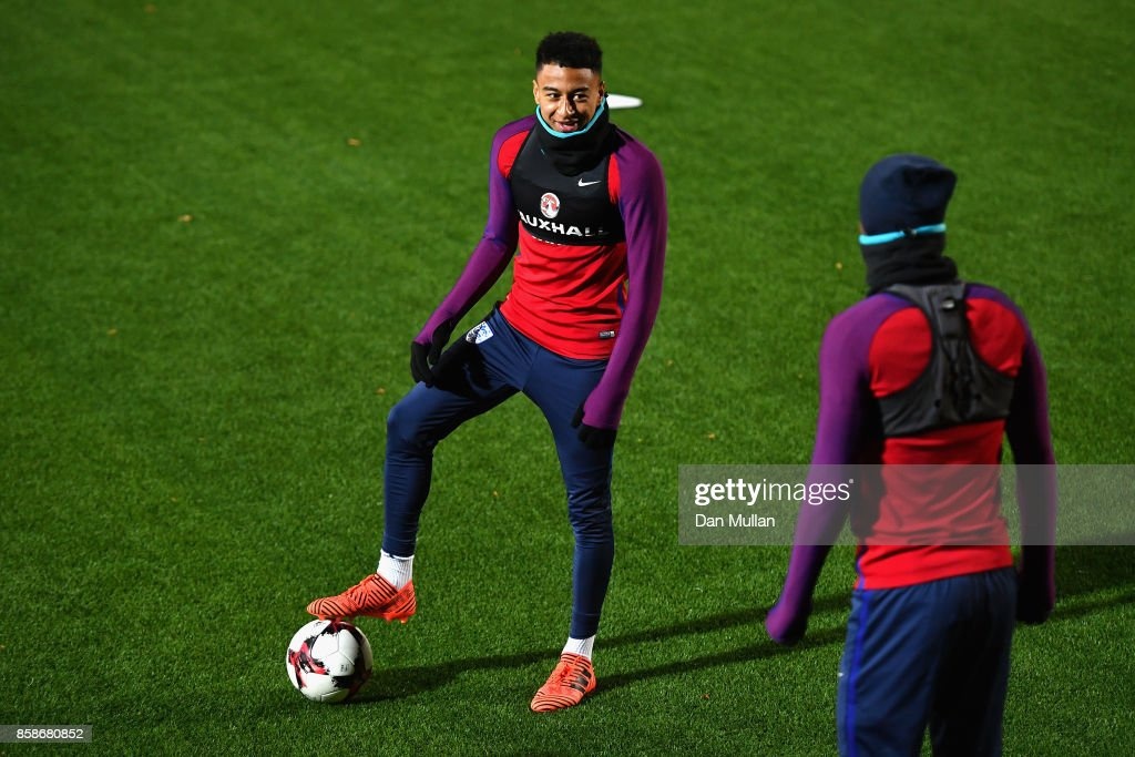 Jesse Lingard during an England Training Session at The LFF Stadium in Vilnius at a Media Access day on October 7, 2017 in Vilnius,