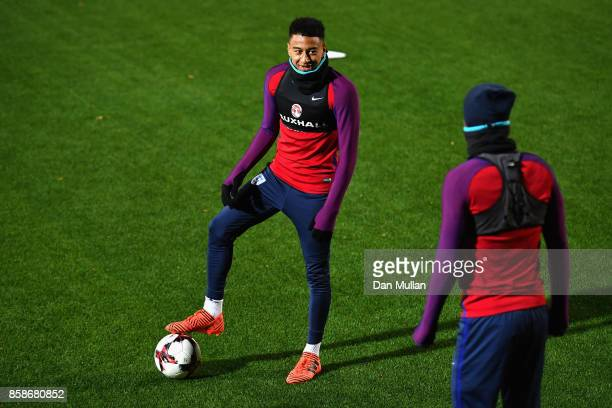 Jesse Lingard during an England Training Session at The LFF Stadium in Vilnius at a Media Access day on October 7 2017 in Vilnius