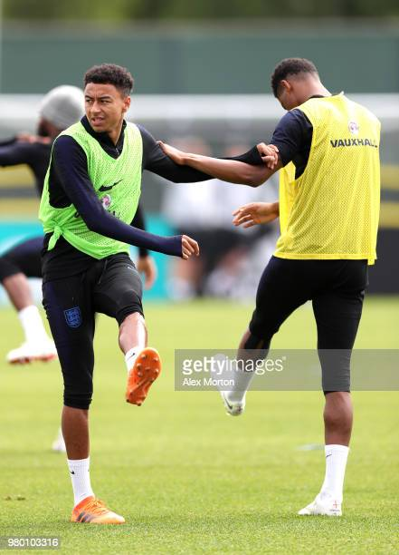 Jesse Lingard in during the England training session on June 21 2018 in Saint Petersburg Russia