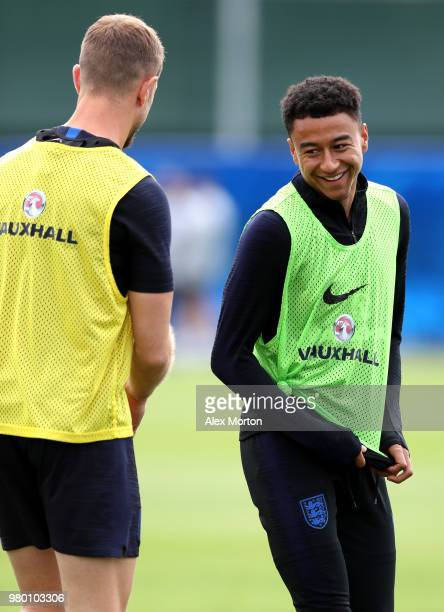 Jesse Lingard n during the England training session on June 21 2018 in Saint Petersburg Russia