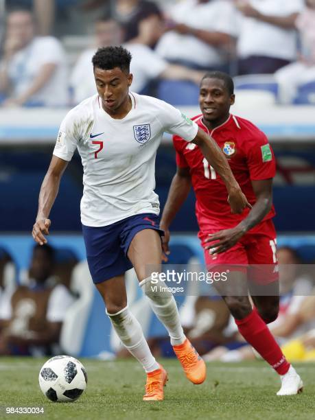 Jesse Lingard of England Armando Cooper of Panama during the 2018 FIFA World Cup Russia group G match between England and Panama at the Nizhny...
