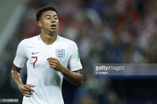 Jesse Lingard of England during the 2018 FIFA World Cup Russia Semi Final match between Croatia and England at the Luzhniki Stadium on July 11 2018...
