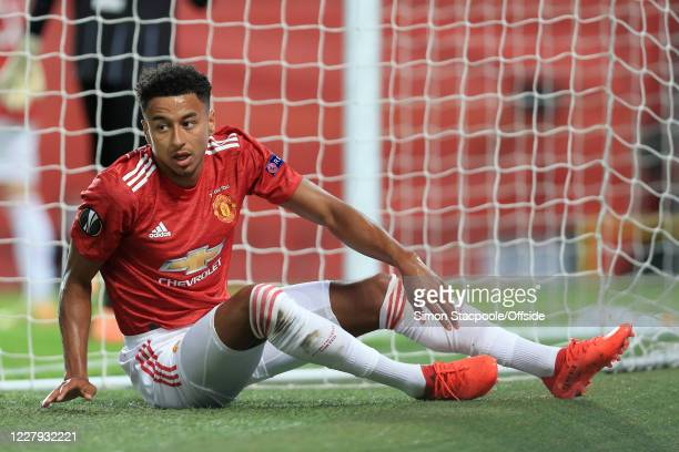 Jesse Lingard of Man Utd looks dejected during the UEFA Europa League round of 16 second leg match between Manchester United and LASK at Old Trafford...