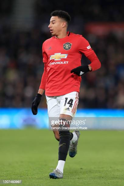 Jesse Lingard of Man Utd looks on during the FA Cup Fifth Round match between Derby County and Manchester United at Pride Park on March 5 2020 in...