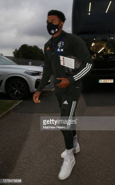 Jesse Lingard of Manchester United arrives ahead of the Carabao Cup Third Round match between Luton Town and Manchester United at Kenilworth Road on...