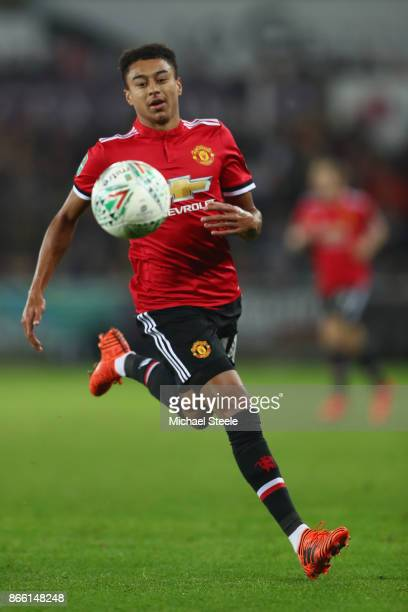 Jesse Lingard of Manchester United during the Carabao Cup fourth round match between Swansea City and Manchester United at the Liberty Stadium on...