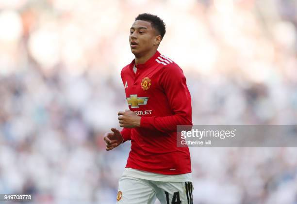 Jesse Lingard of Manchester United during The Emirates FA Cup Semi Final between Manchester United and Tottenham Hotspur at Wembley Stadium on April...