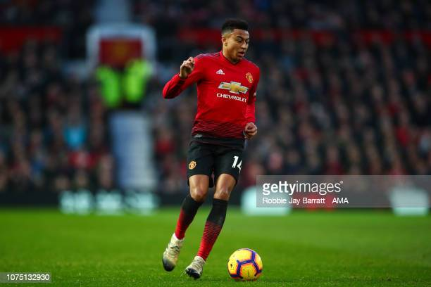 Jesse Lingard of Manchester United during the Premier League match between Manchester United and Huddersfield Town at Old Trafford on December 26...