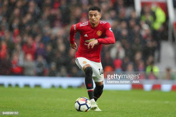Jesse Lingard of Manchester United during the Premier League match between Manchester United and West Bromwich Albion at Old Trafford on April 15...
