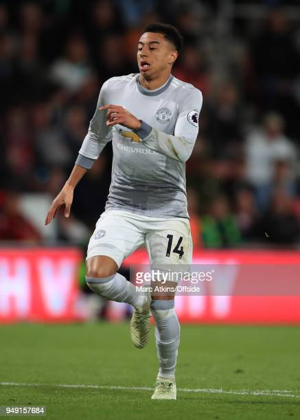 Jesse Lingard of Manchester United during the Premier League match between AFC Bournemouth and Manchester United at Vitality Stadium on April 18 2018...