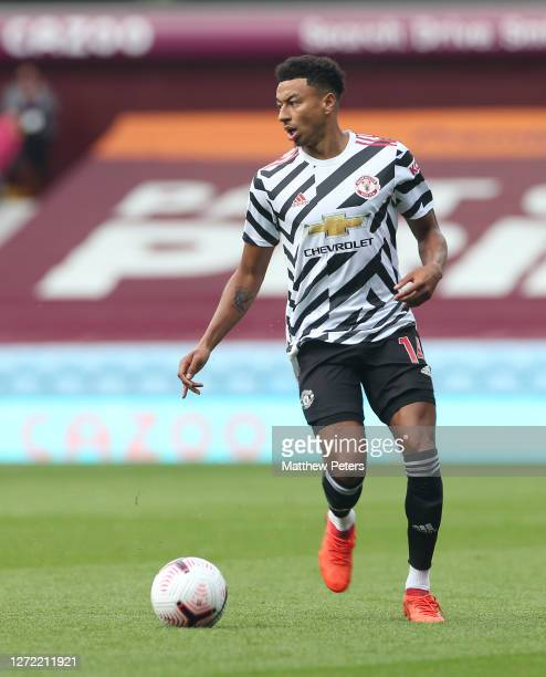 Jesse Lingard of Manchester United in action during a preseason friendly match between Aston Villa and Manchester United at Villa Park on September...