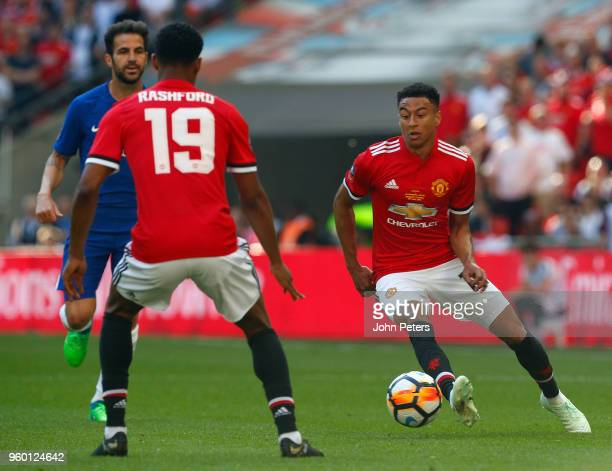 Jesse Lingard of Manchester United in action during the Emirates FA Cup Final match between Manchester United and Chelsea at Wembley Stadium on May...