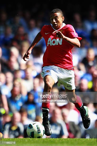 Jesse Lingard of Manchester United in action during the FA Youth Cup Semi Final 1st Leg match between Chelsea and Manchester United at Stamford...