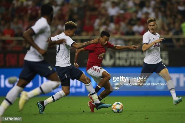 Jesse Lingard of Manchester United in action during the International Champions Cup match between Tottenham Hotspur and Manchester United at the...
