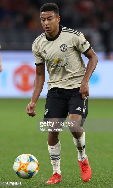 Jesse Lingard of Manchester United in action during the match between the Perth Glory and Manchester United at Optus Stadium on July 13 2019 in Perth...