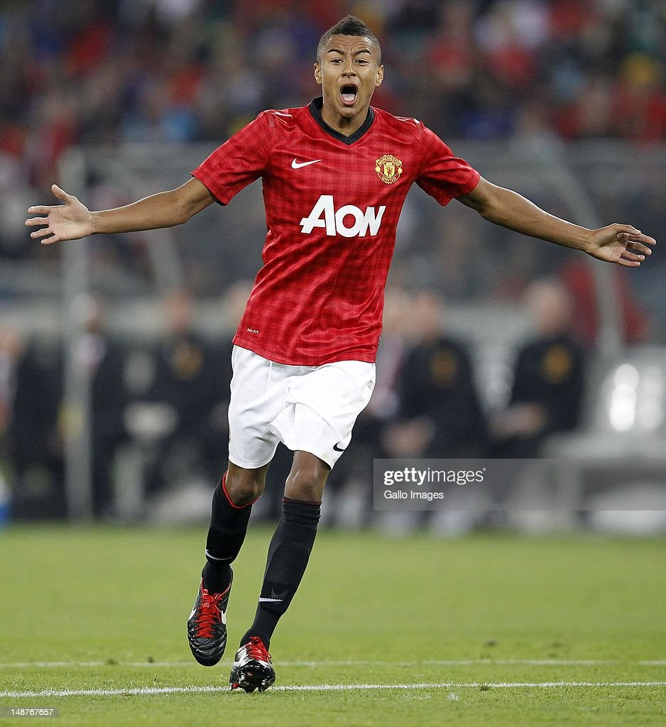 Jesse Lingard of Manchester United in action during the MTN Football Invitational match between Amazulu and Manchester United at Moses Mabhida Stadium on July 18, 2012 in Durban, South Africa