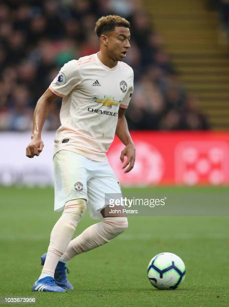 Jesse Lingard of Manchester United in action during the Premier League match between Watford FC and Manchester United at Vicarage Road on September...