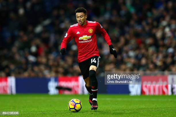 Jesse Lingard of Manchester United in action during the Premier League match between West Bromwich Albion and Manchester United at The Hawthorns on...