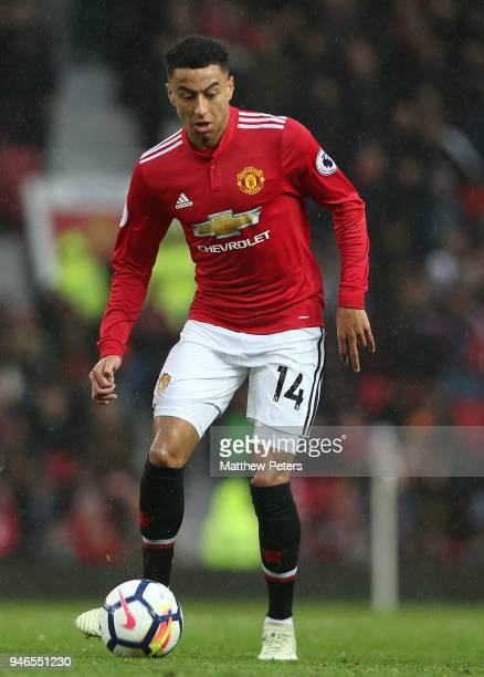 Jesse Lingard of Manchester United in action during the Premier League match between Manchester United and West Bromwich Albion at Old Trafford on...