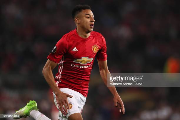 Jesse Lingard of Manchester United in action during the UEFA Europa League semi final second leg match between Manchester United and Celta Vigo at...