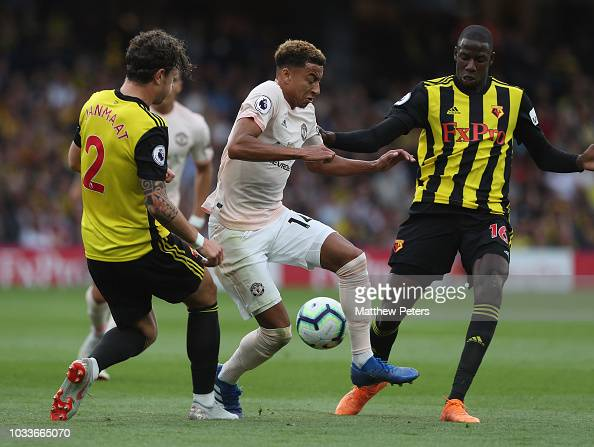 Jesse Lingard Of Manchester United In Action With Daryl