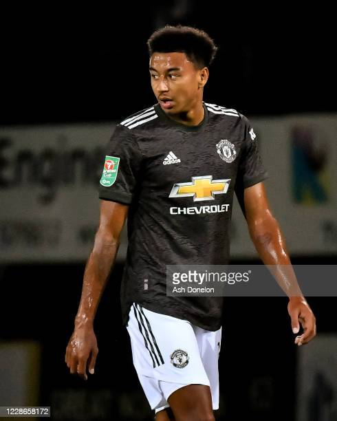 Jesse Lingard of Manchester United looks on during the Carabao Cup Third Round match between Luton Town and Manchester United at Kenilworth Road on...