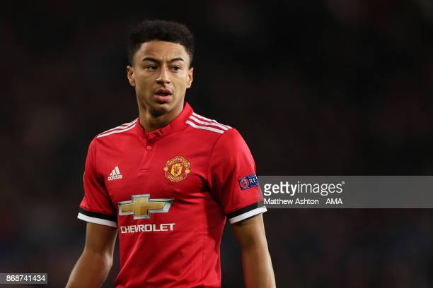 Jesse Lingard of Manchester United looks on during the UEFA Champions League group A match between Manchester United and SL Benfica at Old Trafford...