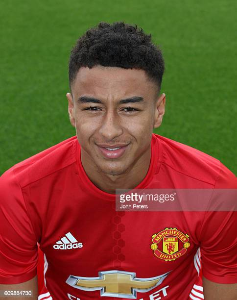 Jesse Lingard of Manchester United poses for a portrait at the Manchester United Official Photocall on September 19 2016 in Manchester England