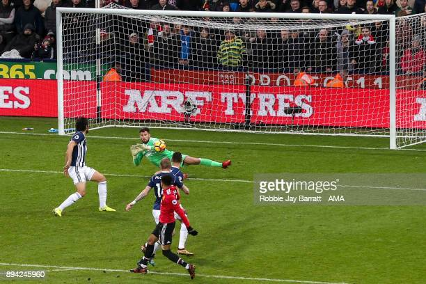 Jesse Lingard of Manchester United scores a goal to make it 02 during the Premier League match between West Bromwich Albion and Manchester United at...