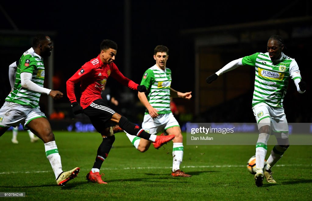Yeovil Town v Manchester United - The Emirates FA Cup Fourth Round : Nachrichtenfoto