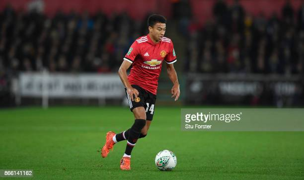 Jesse Lingard of United in action during the Carabao Cup Fourth Round match between Swansea City and Manchester United at Liberty Stadium on October...