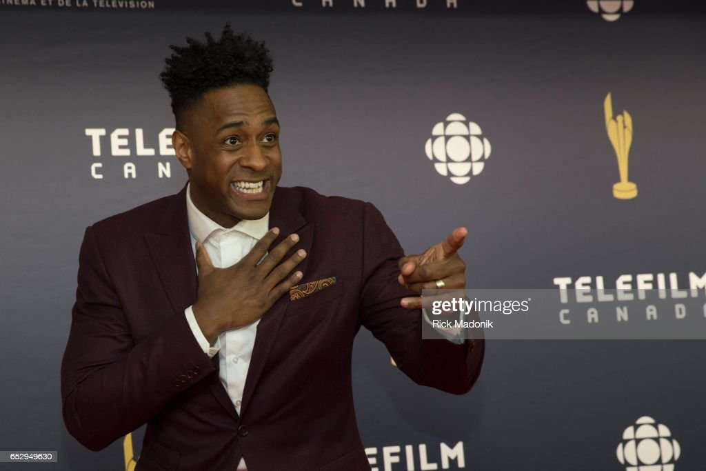 Jesse Lipscombe. Canadian Screen Awards red carpet at Sony Centre for the Performing Arts ahead of the show.