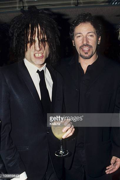 Jesse Malin and Bruce Springsteen during The 37th Annual GRAMMY Awards at Shrine Auditorium in Los Angeles, California, United States.