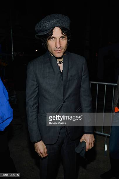 Jesse Malin attends Global Citizen Festival in Central Park to end extreme poverty Backstage at Central Park on September 29 2012 in New York City