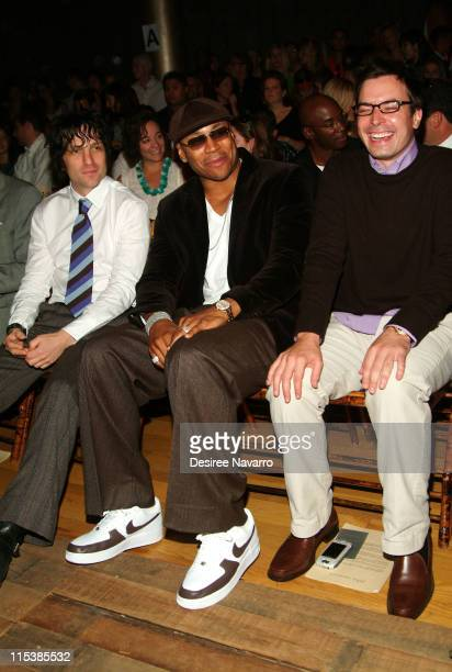 Jesse Malin LL Cool J and Jimmy Fallon during Olympus Fashion Week Spring 2006 John Varvatos Front Row and Backstage at Altman Building in New York...