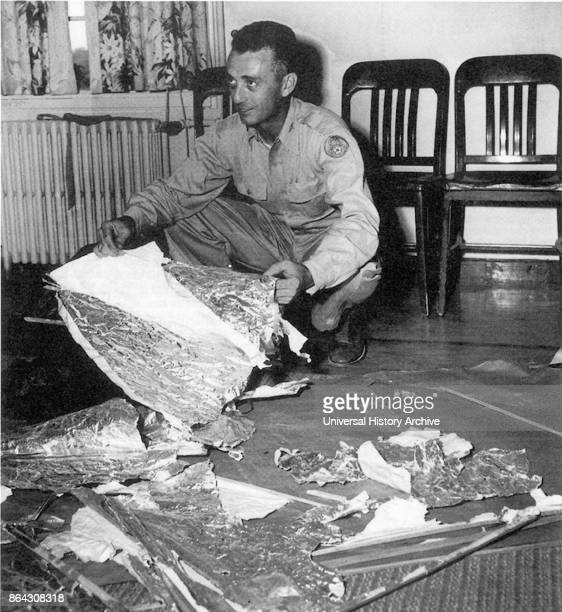 Jesse Marcel head intelligence officer who initially investigated and recovered some of the debris from the Roswell UFO site 1947 In mid1947 a United...