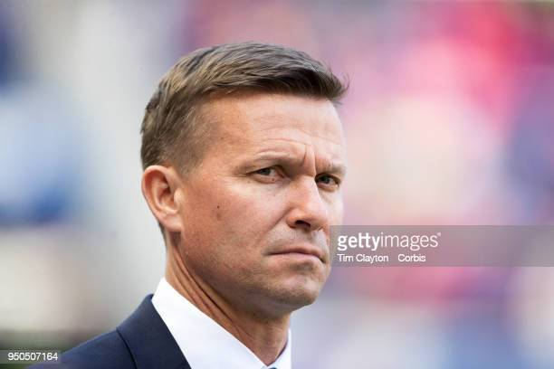 Jesse Marsch head coach of New York Red Bulls on the sideline during the New York Red Bulls Vs Chicago Fire MLS regular season game at Red Bull Arena...