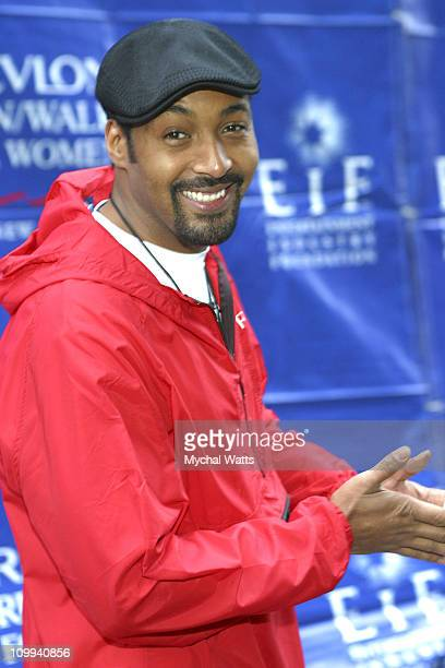 Jesse Martin during 6th Annual Revlon Run/ Walk For Women Against Breast Cancer at Times Square in New York City New York United States