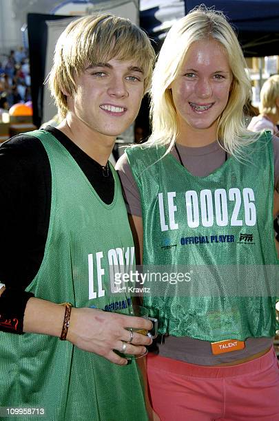Jesse McCartney and Bethany Hamilton during Nickelodeon's Worldwide Day of Play Backstage at Nick on Sunset Studios in Hollywood in Hollywood...