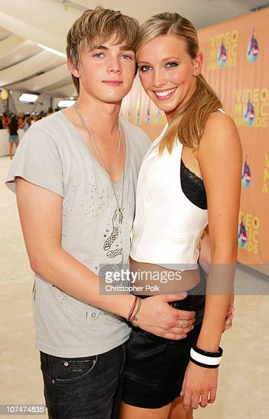 Jesse McCartney and Katie Cassidy during 2005 MTV Video Music Awards White Carpet at American Airlines Arena in Miami Florida United States