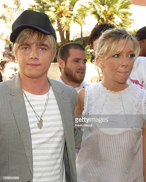 Jesse McCartney and Katie Cassidy during Nickelodeon's 20th Annual Kids' Choice Awards Orange Carpet at Pauley Pavilion in Westood California United...