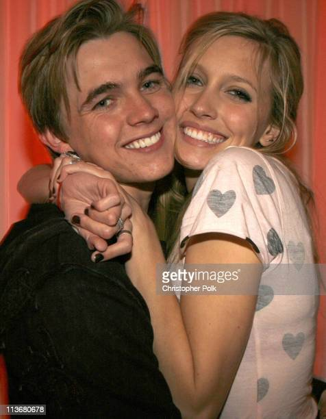 Jesse McCartney and Katie Cassidy during Us Weekly Hot Hollywood Awards Inside at Republic Restaurant Lounge in West Hollywood California United...
