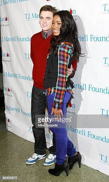 Jesse McCartney and Keke Palmer attend the 10th annual TJ Martell Foundation Family Day at Roseland Ballroom on March 8 2009 in New York City